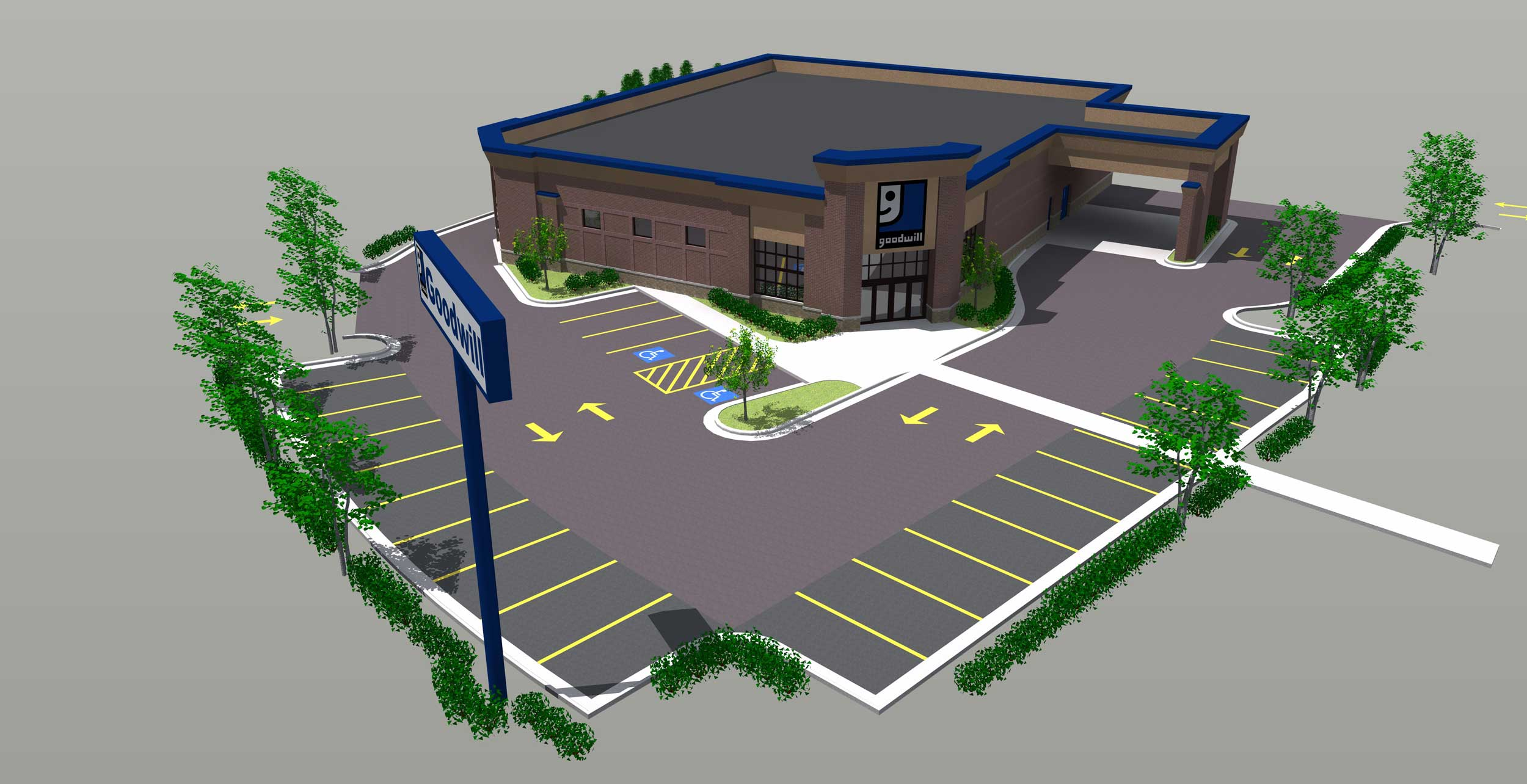Goodwill Industries Site Rendering