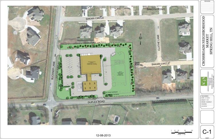 Houchens Crossroads Landscape Plan