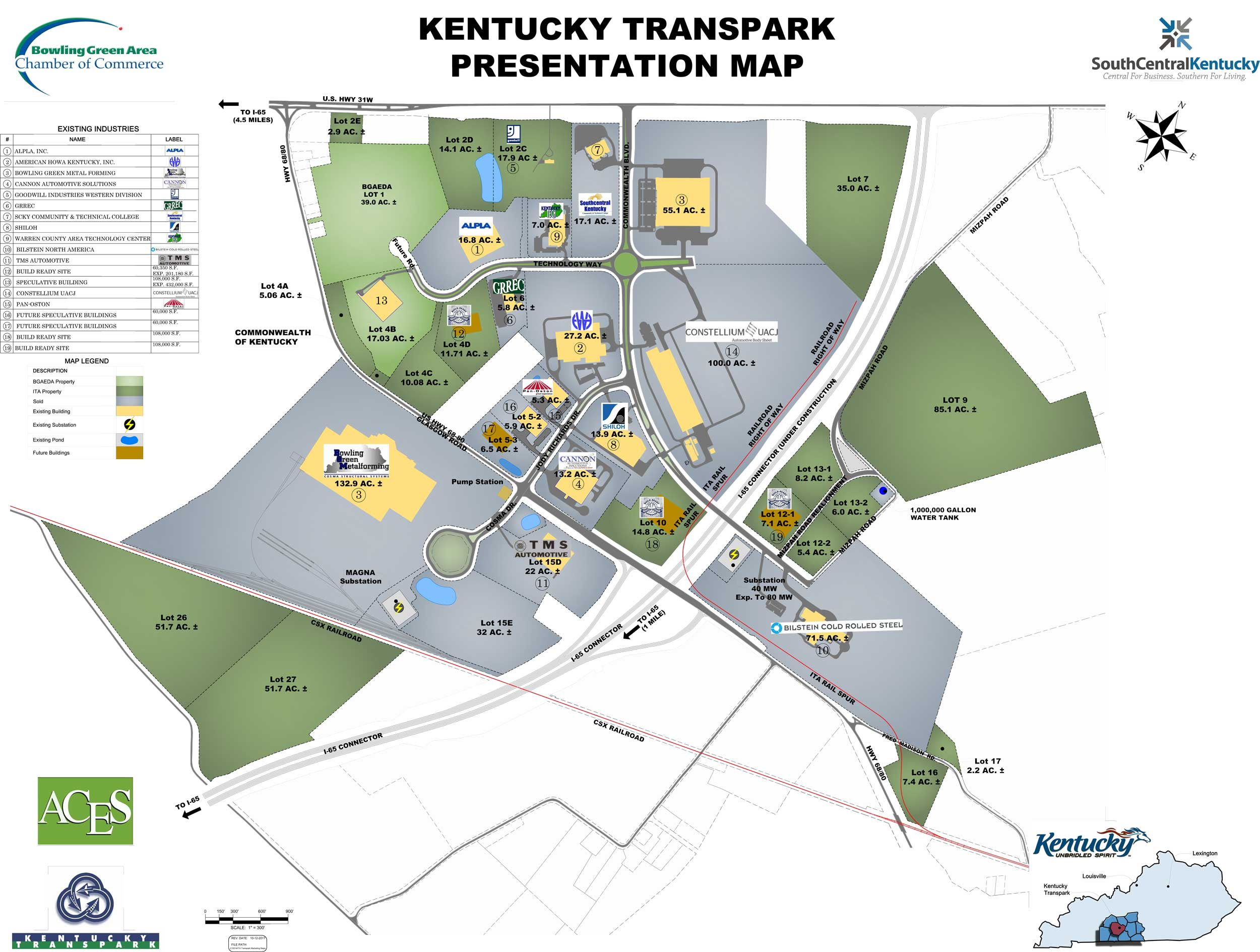 Kentucky Transpark Presentation Map
